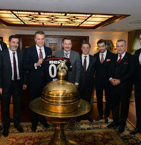 Beşiktaşlılar, Gökçek'i ziyaret etti