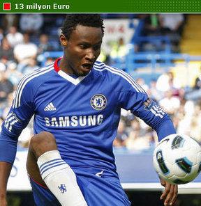 Galatasaray'da rota Chelsea'nin Nijeryalı orta sahası Obi Mikel'e çevrildi.
