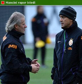 Roberto Mancini, Tugay Kerimoğlu'ndan rapor istedi