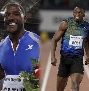 Diamond League'in Roma ayağında 100 metre erkeklerde Justin Gatlin, Usain Bolt'u geride bırakmayı başardı