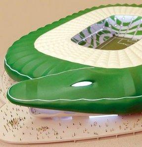 """""""Timsah Arena Stadı""""nın, Bursaspor'u temsil edecek timsah figürlü çatısının montajına gelecek hafta başlanacak"""