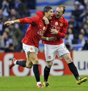 Ronaldo, Rooney takas