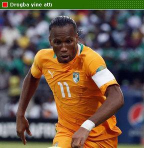 Drogba attı, Fildişi kazandı