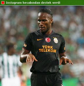 Galatasaray'ın dünya yıldızı Didier Drogba'dan 2020 Olimpiyat adaylığımıza destek geldi