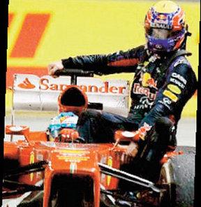 Ferrari, bu olay sonrası Webber'e yüklü bir taksi faturası kesti!