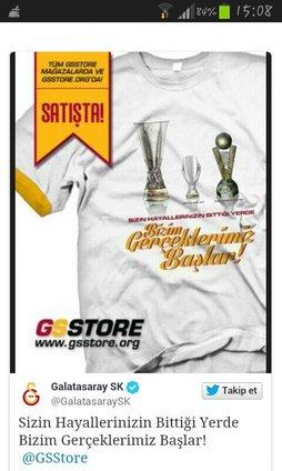 Fenerbahçe'ye tişörtlü cevap!