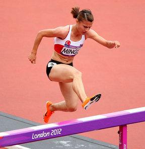 17. Akdeniz Oyunları'nda atletizmde kadınlar 3 bin metre engellide Gülcan Mıngır bronz madalya kazandı