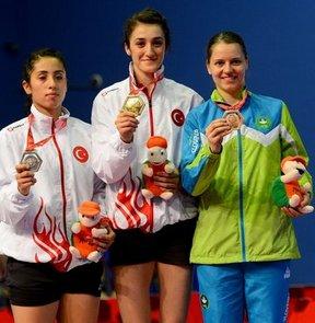 17. Akdeniz Oyunları'nda iki Türk sporcunun karşılaştığı tek bayanlar badminton finalinde Neslihan Yiğit, Özge Bayrak'ı 2-0 yenerek, altın madalyayı kazandı