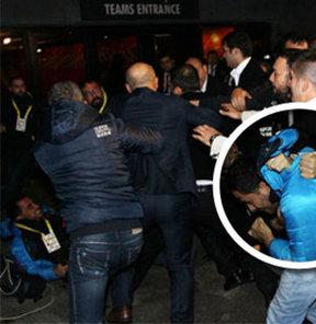 Korumalar gazetecilere saldırdı