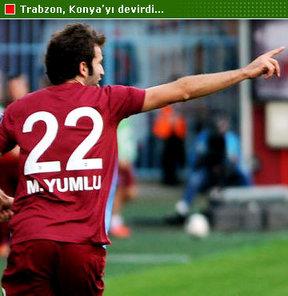 Spor Toto Süper Lig'in 6. haftasında Trabzonspor, sahasında Torku Konyaspor'u 2-0 yendi; puanını 12'ye çıkardı. Ligde Üst üste 3. galibiyetini alan bordo-mavili ekip, bu karşılaşmalarda gol de yemedi. Mustafa Akçay'ın öğrencilerine 3 puanı Mustafa Yumlu'n