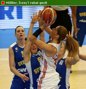 Avrupa Şampiyonası 2. tur E Grubu'nda A Milli Kadın Takımımız, İsveç'i 72, 51 yendi