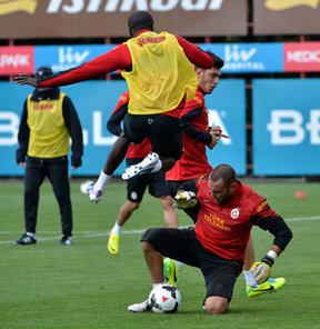 Galatasaray, Akhisar Belediyespor ile yapacağı karşılaşmanın hazırlıklarını sürdürdü