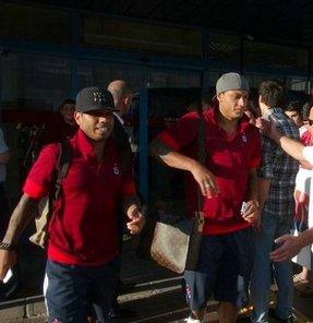 Trabzonspor, UEFA Avrupa Ligi 2. ön eleme turunda oynadığı Derry City maçı sonrası Trabzon'a döndü