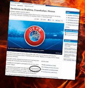 Fenerbahçe'de UEFA tarafından verilen cezanın süre değil, katılım hakkı olduğu ortaya çıktı