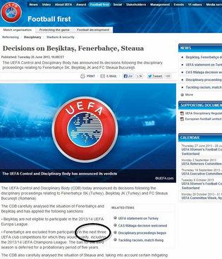 UEFA'nın cezasında ilginç detay!