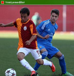 UEFA Gençlik Ligi'nde Galatasaray ile Real Madrid 1-1 berabere kaldı...